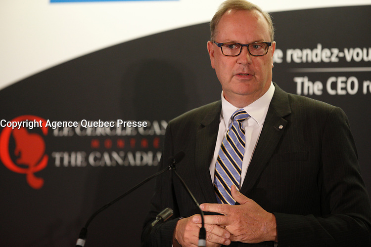 George Cope, CEO Bell Canada speak at the Canadian Club of Montreal, May 15, 2017<br /> <br /> PHOTO  :  Agence Quebec Presse
