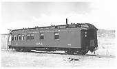 Side view of RGS business car B-20 &quot;Edna&quot; before 1949 Memorial Day Rocky Mountain Railroad Club Special.<br /> RGS  Ridgway, CO  Taken by Maxwell, John W. - 5/15/1949