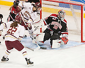 Megan Keller (BC - 4), Haley Skarupa (BC - 22), Brittany Bugalski (NU - 39) - The Boston College Eagles defeated the Northeastern University Huskies 5-1 (EN) in their NCAA Quarterfinal on Saturday, March 12, 2016, at Kelley Rink in Conte Forum in Boston, Massachusetts.