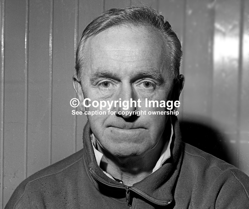 George Eastham, manager, Ards FC, Co Down, N Ireland, December, 1968, 196812000296<br />