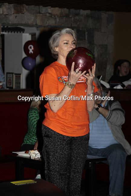 Actors BOWLING - 11th Annual Daytime Stars & Strikes Event for Autism - 2015 on April 19, 2015 hosted by Guiding Light's Jerry ver Dorn (& OLTL) and Liz Keifer at Bowlmor Lanes Times Square, New York City, New York. (Photos by Sue Coflin/Max Photos)