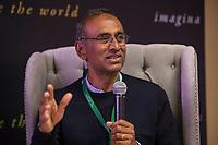 Querétaro, Qro. 9 de septiembre de 2018.- Venki Ramakrishnan ganador del premio nobel de ciencias durante su participación en Hay Festival 2018.