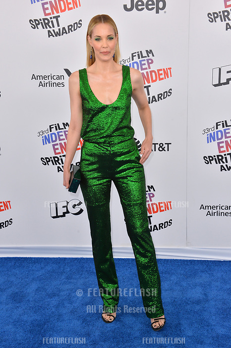 Leslie Bibb at the 2018 Film Independent Spirit Awards on the beach in Santa Monica, USA 03 March 2018<br /> Picture: Paul Smith/Featureflash/SilverHub 0208 004 5359 sales@silverhubmedia.com