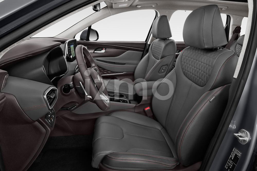 Front seat view of a 2019 Hyundai Santa FE Shine 5 Door SUV front seat car photos