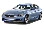 2014 BMW SERIES 3 Sport 4 Door Sedan 2WD Angular Front stock photos of front three quarter view
