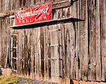 The barn door at the side of Rappahannock Cellars' event barn.
