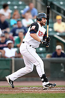 Rochester Red Wings outfielder Jason Kubel #11, on rehab assignment from the Minnesota Twins, during a game against the Durham Bulls at Frontier Field on July 18, 2011 in Rochester, New York.  Durham defeated Rochester 4-1.  (Mike Janes/Four Seam Images)