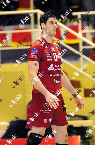 2014-10-29 / Volleybal / seizoen 2014-2015 / Topvolley Antwerpen - Asse-Lennik / Moreau Marien<br /><br />Foto: mpics.be