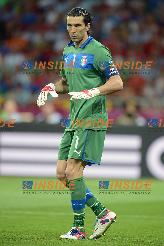 "Gianluigi Buffon Italia.Kiev 01/07/2012  ""Stadio Olimpico"".Football calcio Europeo 2012 Spagna Vs Italia.Football Calcio Euro 2012.Foto Insidefoto Alessandro Sabattini..."