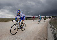 Thibaut Pinot (FRA/FDJ) is part of the early breakaway & will be the only one to survive up front until the finale (finishing 9th)<br /> <br /> 11th Strade Bianche 2017