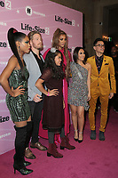 "LOS ANGELES - NOV 27:  Shanica Knowles, Gavin Stenhouse, Allison Fernandez, Tyra Banks, Francia Raisa, Hank Chen at the ""Life Size 2"" Premiere Screening at the Roosevelt Hotel on November 27, 2018 in Los Angeles, CA"