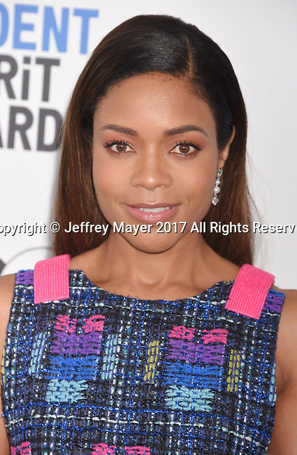 SANTA MONICA, CA - FEBRUARY 25: Actress Naomie Harris attends the 2017 Film Independent Spirit Awards at the Santa Monica Pier on February 25, 2017 in Santa Monica, California.
