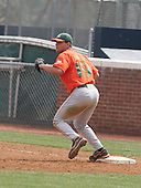 Yonder Alonso of the Miami Hurricanes vs. the Virginia Cavaliers: March 24th, 2007 at Davenport Field in Charlottesville, VA.  Photo copyright Mike Janes Photography 2007.