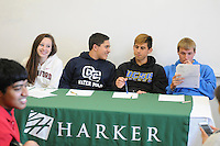 The Harker School - US - Upper School - Harker's class of 2012 boasts an additional 4 seniors who have signed their National Letter of Intent to play collegiate sports - Photo by Kyle Cavallaro