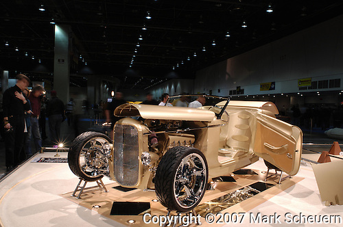 Rudy Necoechea's 1932 Ford Roadster hot rod at the 2007 Detroit Autorama