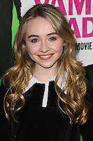 "LOS ANGELES, CA - FEBRUARY 04: Sabrina Carpenter at the Los Angeles Premiere Of The Weinstein Company's ""Vampire Academy"" held at Regal Cinemas L.A. Live on February 4, 2014 in Los Angeles, California. (Photo by Xavier Collin/Celebrity Monitor)"
