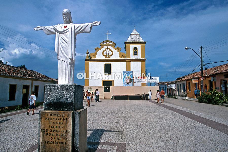 Igreja em Arraial D'Ajuda, litoral da Bahia. 1999. Foto de Juca Martins.
