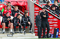Fleetwood Town manager Joey Barton shouts instructions to his team from the technical area<br /> <br /> Photographer Alex Dodd/CameraSport<br /> <br /> The EFL Sky Bet League One - Fleetwood Town v Accrington Stanley - Saturday 15th September 2018  - Highbury Stadium - Fleetwood<br /> <br /> World Copyright &copy; 2018 CameraSport. All rights reserved. 43 Linden Ave. Countesthorpe. Leicester. England. LE8 5PG - Tel: +44 (0) 116 277 4147 - admin@camerasport.com - www.camerasport.com