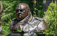 BNPS.co.uk (01202 558833)<br /> Pic: PhilYeomans/BNPS<br /> <br /> Yours for £300,000 - A monumental bust of Churchill by artist Ivor Robert-Jones, one of only six copies made of the famous statue in Parliment Square.<br /> <br /> The ultimate garden sale...<br /> <br /> A bronze bust of Sir Winston Churchill leads an epic £5m sale of 400 garden sculptures an art fanatic is putting under the hammer.<br /> <br /> Eddie Powell turned 10 acres of unused land in the Surrey countryside into one of the world's largest sculpture parks 15 years ago.<br /> <br /> He crammed it with over 800 eye-catching pieces of art, ranging from a 19 tonne dragon made from 152,000 horse shoes to a 12ft tall bronze polar bear.<br /> <br /> Mr Powell is now down-sizing the collection and is selling half of the items in the park.