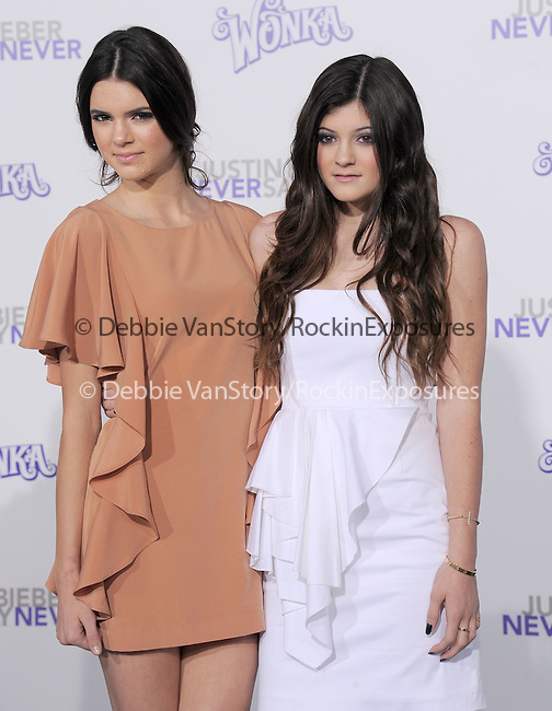 """Kendall Jenner and Kylie Jenner attends the Paramount Pictures' L.A. Premiere of """"JUSTIN BIEBER: NEVER SAY NEVER."""" held at The Nokia Theater Live in Los Angeles, California on February 08,2011                                                                               © 2010 DVS / Hollywood Press Agency"""
