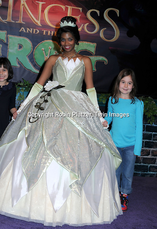 Disney Princess Tiana and Lesley Sloan's daughter