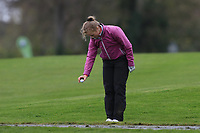 Leah Temple Lang (Elm Park) dropping on the 1st during Round 1 of the Irish Girls U18 Open Stroke Play Championship at Roganstown Golf &amp; Country Club, Dublin, Ireland. 05/04/19 <br /> Picture:  Thos Caffrey / www.golffile.ie