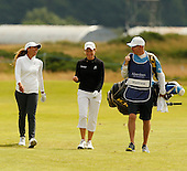Cheyenne Woods and Catriona Matthew during the final round  of the 2016 Aberdeen Asset Management Ladies Scottish Open played at Dundonald Links Ayrshire from 22nd to 24th July 2016:  Picture Stuart Adams, www.golftourimages.com: 22/07/2016