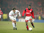 Bryan Roy of Nottingham Forest - UEFA Cup - quarter final 2nd leg - Nottingham Forest v Bayern Munich - City Ground - Nottingham - England - 19th March 1996 - Picture Simon Bellis/Sportimage