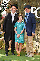 Mark Rylance, Ruby Barnhill &amp; Steven Spielberg at the UK premiere of 'The BFG' at the Odeon Leicester Square, London.<br /> July 17, 2016  London, UK<br /> Picture: Steve Vas / Featureflash