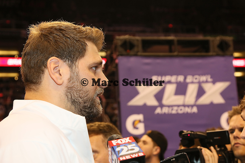 OT Sebastian Vollmer (Patriots)  - Super Bowl XLIX Media Day, US Airways Center, Phoenix