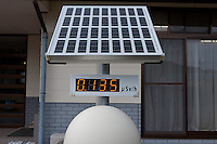 A radiation meter outside a Japan Agricultural office in Kawauchi, Fukushima, Japan. Tuesday April 30th 2013. The town was evacuated after the March 11th 2011 disaster at the nearby Fukushima Daichi nuclear plant  but has now nominally been decontaminated and residents have begun moving back.