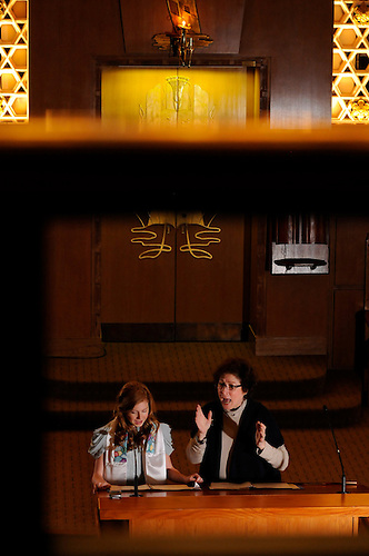 Bat Mitzvah Girl At Stephen Wise Synagogue, New York City.