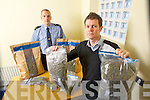 John Guest and James Daly Killarney Gardai pictured with €70,000 worth of drugs which were recovered on Tuesday.