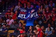 Washington, DC - August 31, 2018: Atlanta Dream fans wave a custom made banner in the stands during semi finals playoff game between Atlanta Dream and Wasington Mystics at the Charles Smith Center at George Washington University in Washington, DC. (Photo by Phil Peters/Media Images International)