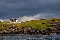 Standing guard near the quaint Irish harbor town of Dingle is this old lighthouse.  An afternoon storm is either coming or going as is so common along this peninsula.