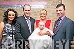 Baby Kayla with her parents Marcus Kelliher & Tracey Mathews, Banemore, Listowel who was christened in St. Michael's Church, Lixnaw by Fr. Mossie Brick, PP on Saturday last and afterwards at Christy's Bar, Listowel. L- R :Janice Matthews, Marcus Kelliher, Tracey  Matthews with Kayla & Jonathan Kelliher.