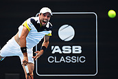 11th January 2018, ASB Tennis Centre, Auckland, New Zealand; ASB Classic, ATP Mens Tennis;  Roberto Bautista Agut (ESP) during the ASB Classic ATP Men's Tournament Day 4 Quarter Finals