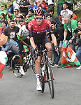 Wout Poels (NED) Team Ineos on the final climb during Stage 12 of La Vuelta 2019 running 171.4km from Circuito de Navarra to Bilbao, Spain. 5th September 2019.<br /> Picture: Colin Flockton | Cyclefile<br /> <br /> All photos usage must carry mandatory copyright credit (© Cyclefile | Colin Flockton)