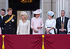 CAMILLA, PRINCE HARRY, KATE, PRINCESS EUGENIE AND PRINCE ANDREW<br /> appear on the balcony of Buckingham Palace to watch the Royal Air Force Flypast as part of the Trooping of the Colour, London_15th June 2013<br /> The annual event marks the Queen's Official Birthday.<br /> Photo Credit: &copy;Dias/NEWSPIX INTERNATIONAL<br /> <br /> <br /> **ALL FEES PAYABLE TO: &quot;NEWSPIX INTERNATIONAL&quot;**<br /> <br /> PHOTO CREDIT MANDATORY!!: NEWSPIX INTERNATIONAL<br /> <br /> IMMEDIATE CONFIRMATION OF USAGE REQUIRED:<br /> Newspix International, 31 Chinnery Hill, Bishop's Stortford, ENGLAND CM23 3PS<br /> Tel:+441279 324672  ; Fax: +441279656877<br /> Mobile:  0777568 1153<br /> e-mail: info@newspixinternational.co.uk