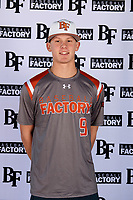 Bobby Witt Jr. (9) of Colleyville Heritage High School in Colleyville, Texas during the Baseball Factory All-America Pre-Season Tournament, powered by Under Armour, on January 12, 2018 at Sloan Park Complex in Mesa, Arizona.  (Mike Janes/Four Seam Images)
