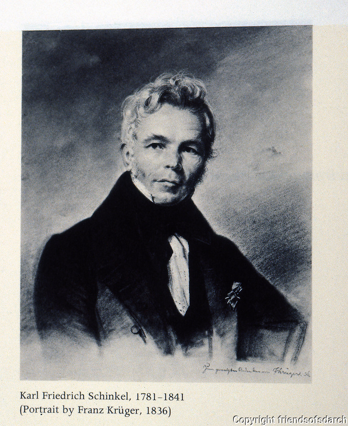 Berlin: Portrait of Karl Friedrich Schinkel, 1781-1841.  Franz Kruger, photographer, 1836. Reference only.