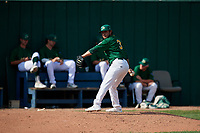 Beloit Snappers pitcher Joseph Camacho (3) throws a warm up pitch in the bullpen during a game against the Dayton Dragons on July 22, 2018 at Pohlman Field in Beloit, Wisconsin.  Dayton defeated Beloit 2-1.  (Mike Janes/Four Seam Images)
