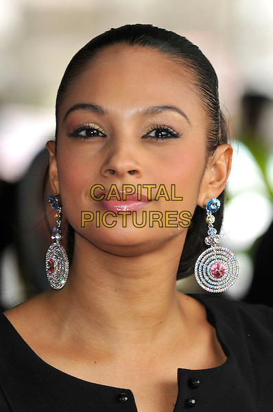 ALESHA DIXON.Capital 95.8 Awards for Help a London Child, held at Riverbank Park Plaza Hotel, London, England.20th March 2008..portrait headshot earrings.CAP/PL.©Phil Loftus/Capital Pictures