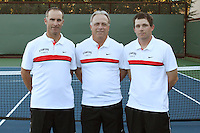 STANFORD, CA - NOVEMBER 16:  Brandon Coupe, John Whitlinger, and J.J. Whitlinger of the Stanford Cardinal during photo day on November 16, 2009 at the Taube Family Tennis Stadium in Stanford, California.