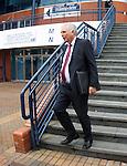 Dunfermline Chairman John Yorkston leaving Hampden