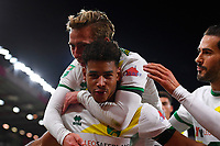 Onel Hernandez of Norwich City celebrates his goal during AFC Bournemouth vs Norwich City, Caraboa Cup Football at the Vitality Stadium on 30th October 2018