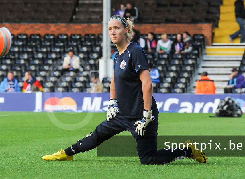Uefa Women 's Champions League Final 2011 at Craven Cottage Fulham - London : Olympique Lyon - Turbine Potsdam : Anna Felicitas Sarholz..foto DAVID CATRY / JOKE VUYLSTEKE / Vrouwenteam.be.