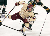 Michael Matheson (BC - 5) - The Boston College Eagles defeated the visiting University of Vermont Catamounts to sweep their quarterfinal matchup on Saturday, March 16, 2013, at Kelley Rink in Conte Forum in Chestnut Hill, Massachusetts.