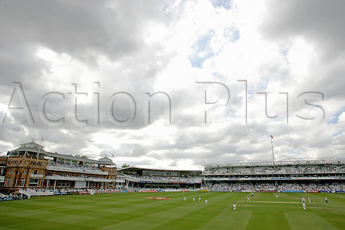 26 May 2005: General view of the ground during the first day of the first test between England and Bangladesh, at Lords, London. Photo: Steve Bardens/Actionplus..050526 venues