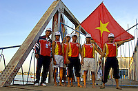 Vietnamese rowing team during Phnom Penh Boat races in Cambodia,The annual boat races, Asian rowing teams during Phnom Penh Boat races in Cambodia, a yearly event but dates are changed every year